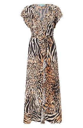 Женское платье из вискозы MELISSA ODABASH коричневого цвета, арт. BRIANNA   Фото 1