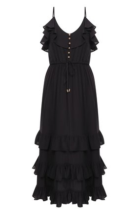 Женское платье из вискозы MELISSA ODABASH черного цвета, арт. BETHAN   Фото 1