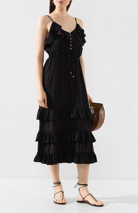 Женское платье из вискозы MELISSA ODABASH черного цвета, арт. BETHAN   Фото 2