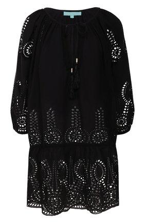 Женское хлопковая туника MELISSA ODABASH черного цвета, арт. ASHLEY   Фото 1