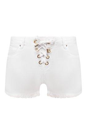 Женские джинсовые шорты MELISSA ODABASH белого цвета, арт. ALEXI   Фото 1