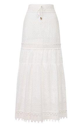 Женская хлопковая юбка MELISSA ODABASH белого цвета, арт. ALESSIA   Фото 1