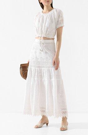 Женская хлопковая юбка MELISSA ODABASH белого цвета, арт. ALESSIA   Фото 2