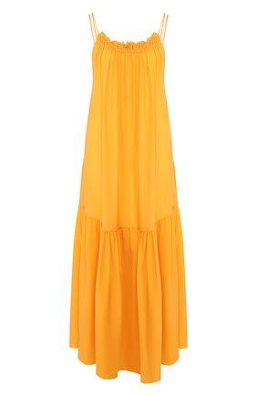 Женское шелковое платье THREE GRACES желтого цвета, арт. TGL DR3025   Фото 1
