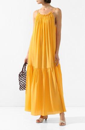 Женское шелковое платье THREE GRACES желтого цвета, арт. TGL DR3025   Фото 2