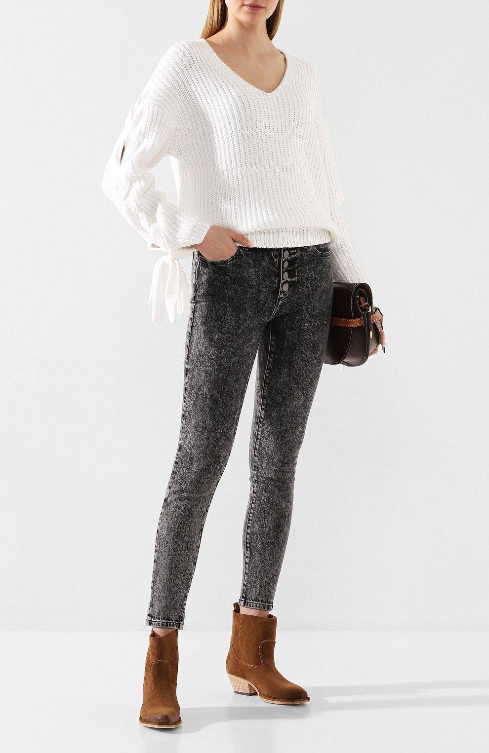 Женские джинсы MICHAEL MICHAEL KORS черного цвета, арт. MH99CSKEDX | Фото 2