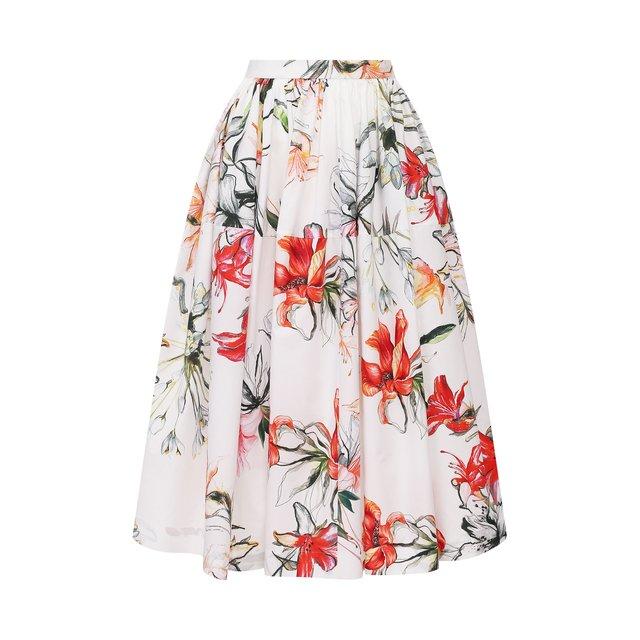 Хлопковая юбка Alexander McQueen