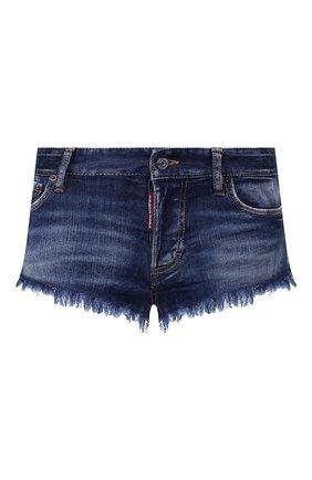 Женские джинсовые шорты DSQUARED2 синего цвета, арт. S73MU0222/S30685 | Фото 1