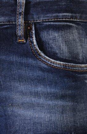 Женские джинсовые шорты DSQUARED2 синего цвета, арт. S73MU0222/S30685 | Фото 5