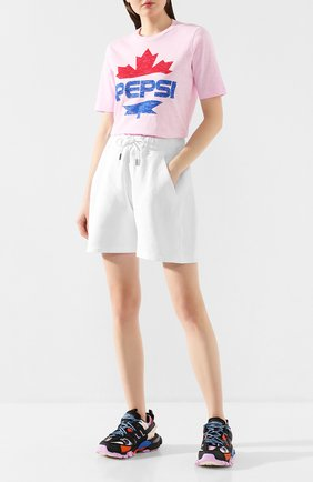 Женская хлопковая футболка DSQUARED2 розового цвета, арт. S73GC0259/S22507 | Фото 2