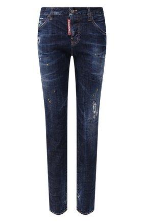 Женские джинсы DSQUARED2 синего цвета, арт. S72LB0308/S30342 | Фото 1