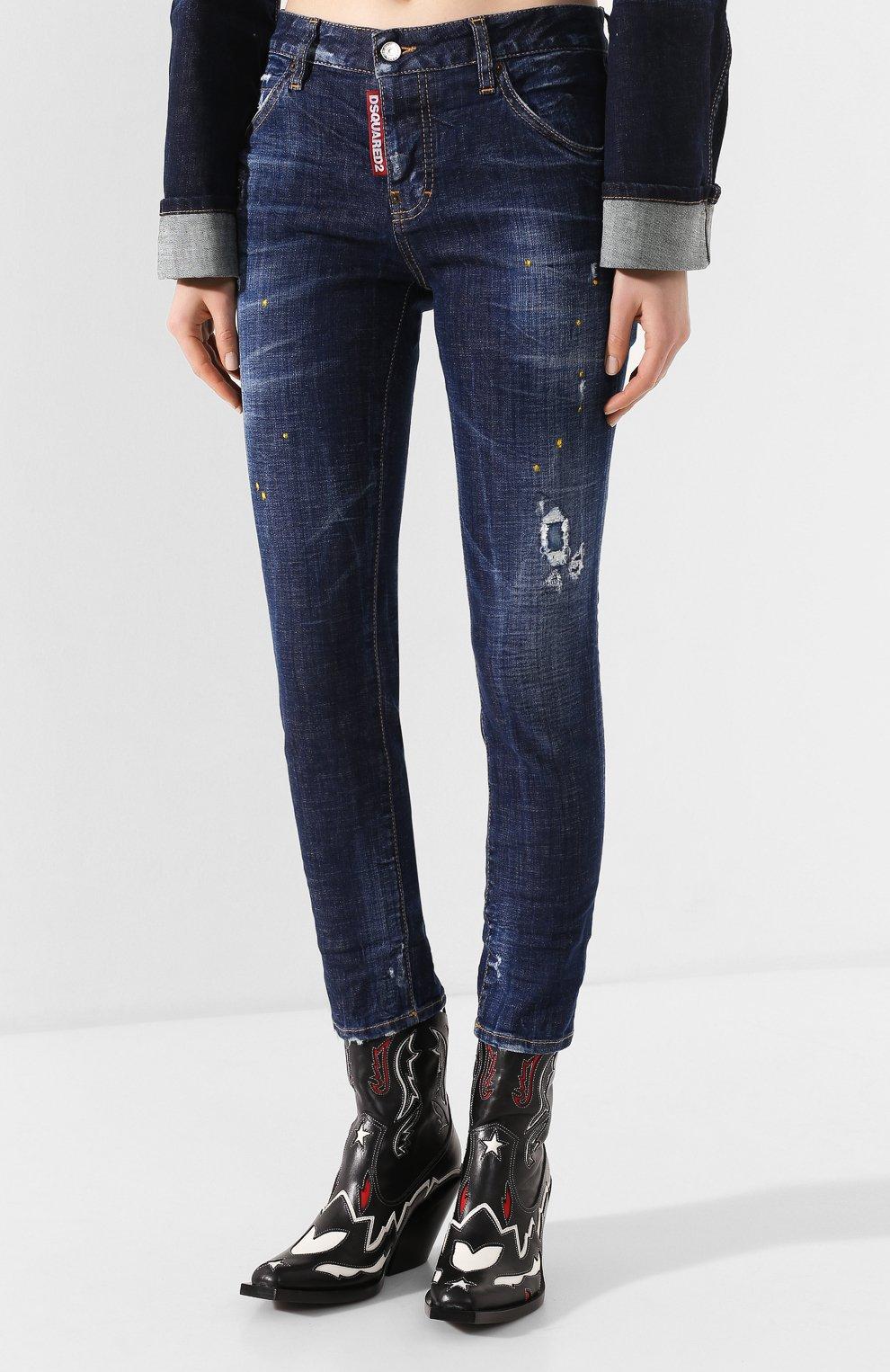 Женские джинсы DSQUARED2 синего цвета, арт. S72LB0308/S30342 | Фото 3