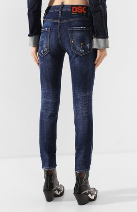 Женские джинсы DSQUARED2 синего цвета, арт. S72LB0308/S30342 | Фото 4