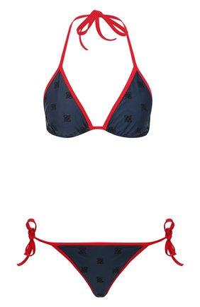 Женский раздельный купальник FENDI синего цвета, арт. FXB972 AB49 | Фото 1
