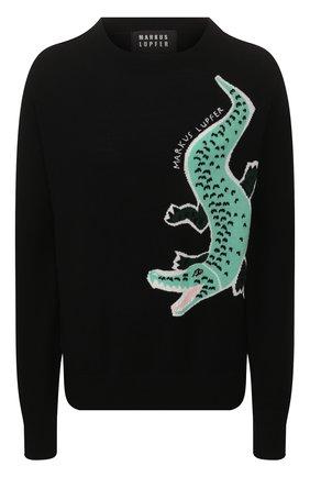 Женская пуловер MARKUS LUPFER черного цвета, арт. KN2819 | Фото 1