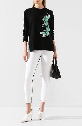 Женская пуловер MARKUS LUPFER черного цвета, арт. KN2819 | Фото 2