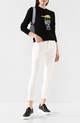 Женская пуловер с пайетками MARKUS LUPFER черного цвета, арт. KN2814 | Фото 2