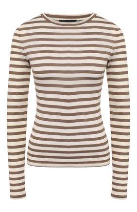 Женская пуловер в полоску THEORY кремвого цвета, арт. J1229504 | Фото 1