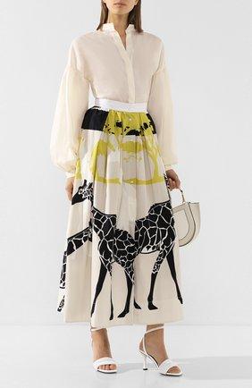 Женская хлопковая блузка TWINS FLORENCE белого цвета, арт. TWFPE20CAM0006 | Фото 2