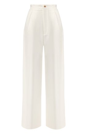 Женские брюки из смеси льна и вискозы TWINS FLORENCE белого цвета, арт. TWFPE20PAN0001 | Фото 1