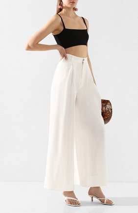 Женские брюки из смеси льна и вискозы TWINS FLORENCE белого цвета, арт. TWFPE20PAN0001 | Фото 2