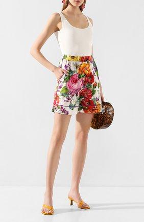 Женские шелковые шорты DOLCE & GABBANA разноцветного цвета, арт. FTAM7T/FSAZM | Фото 2