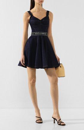 Женское джинсовое платье DOLCE & GABBANA темно-синего цвета, арт. F6H3SD/G898Z | Фото 2