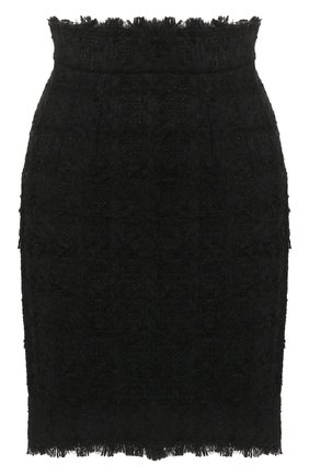 Женская юбка DOLCE & GABBANA черного цвета, арт. F4BWAT/HUMJK | Фото 1