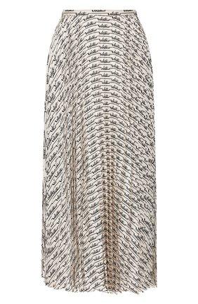 Женская шелковая юбка VALENTINO белого цвета, арт. TB3RA5K2551 | Фото 1