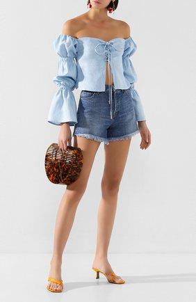 Женские джинсовые шорты TWO WOMEN IN THE WORLD синего цвета, арт. D0NY/YNG3P | Фото 2