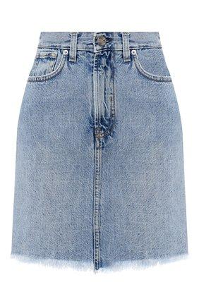 Женская джинсовая юбка TWO WOMEN IN THE WORLD синего цвета, арт. NICHE/YNG3P | Фото 1