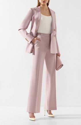 Женские шерстяные брюки GABRIELA HEARST светло-розового цвета, арт. 320200A W005 | Фото 2