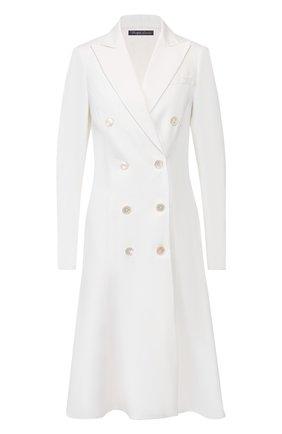 Женское платье из смеси льна и вискозы RALPH LAUREN белого цвета, арт. 290798015 | Фото 1