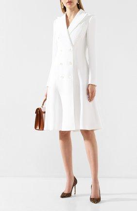 Женское платье из смеси льна и вискозы RALPH LAUREN белого цвета, арт. 290798015 | Фото 2