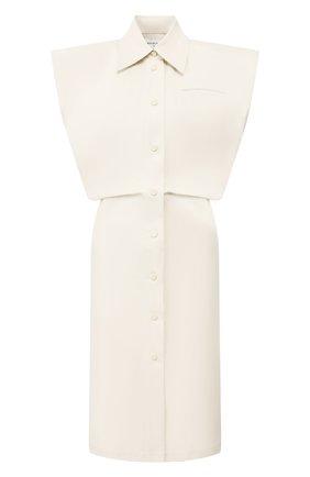 Женское хлопковое платье BOTTEGA VENETA бежевого цвета, арт. 618494/VKPB0 | Фото 1