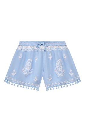 Детские шорты MELISSA ODABASH голубого цвета, арт. BABY SH0RTS   Фото 1