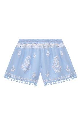 Детские шорты MELISSA ODABASH голубого цвета, арт. BABY SH0RTS   Фото 2
