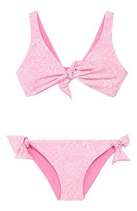 Детского раздельный купальник MELISSA ODABASH розового цвета, арт. BABY C0M0 | Фото 1