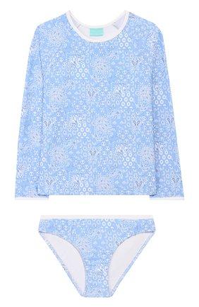 Детского раздельный купальник MELISSA ODABASH голубого цвета, арт. BABY DAK0TA   Фото 1