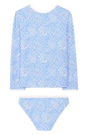 Детского раздельный купальник MELISSA ODABASH голубого цвета, арт. BABY DAK0TA   Фото 2