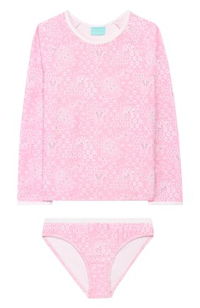 Детского раздельный купальник MELISSA ODABASH розового цвета, арт. BABY DAK0TA   Фото 1
