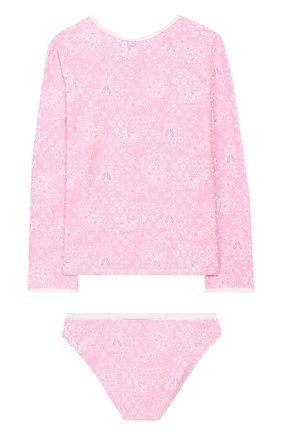 Детского раздельный купальник MELISSA ODABASH розового цвета, арт. BABY DAK0TA   Фото 2