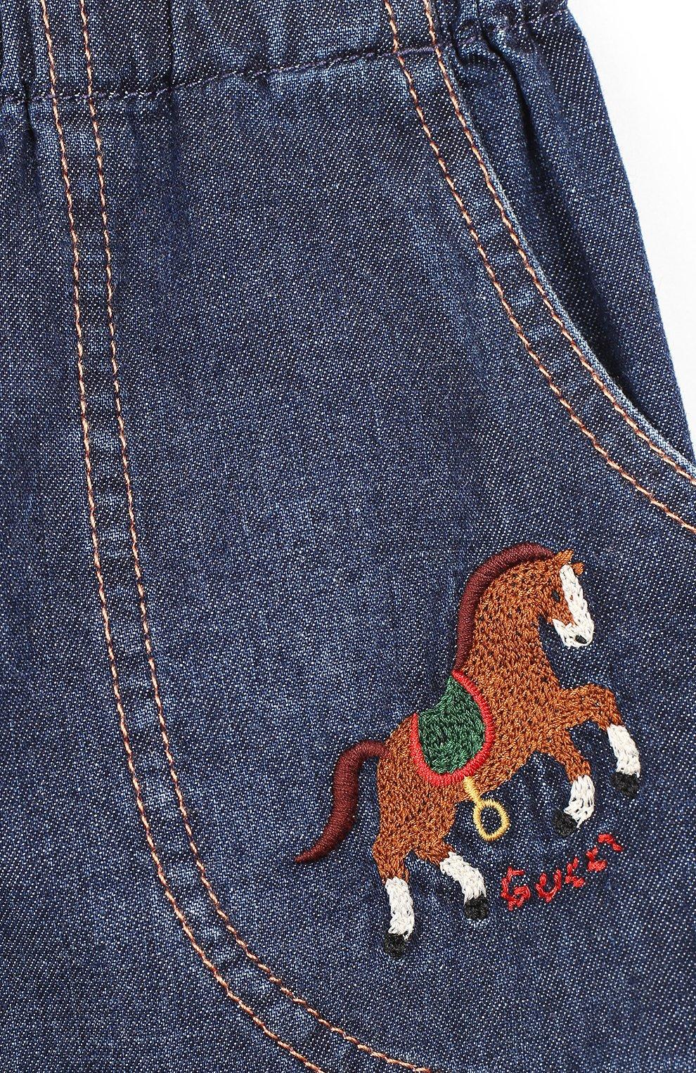 Детские джинсы GUCCI синего цвета, арт. 591305/XDAZD   Фото 3