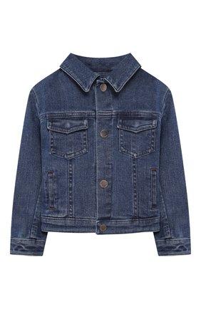 Детского джинсовая куртка LORO PIANA голубого цвета, арт. FAL0858 | Фото 1