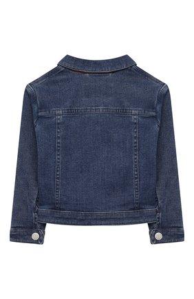 Детского джинсовая куртка LORO PIANA голубого цвета, арт. FAL0858 | Фото 2