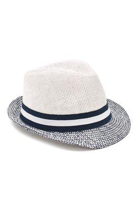 Детская соломеная шляпа CATYA белого цвета, арт. 014012 | Фото 1