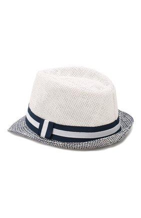 Детская соломеная шляпа CATYA белого цвета, арт. 014012 | Фото 2