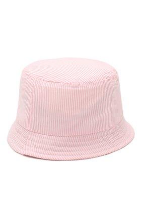 Детская хлопковая панама CATYA розового цвета, арт. 014047/2 | Фото 1