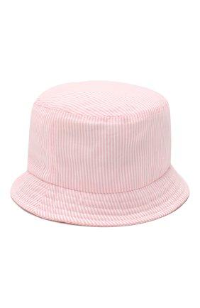 Детская хлопковая панама CATYA розового цвета, арт. 014047/2 | Фото 2