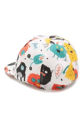 Детская хлопковая кепка CATYA разноцветного цвета, арт. 014061 | Фото 2